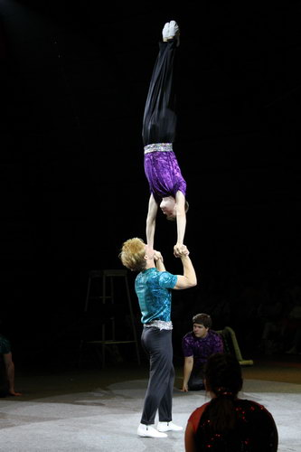The Hand balancing act at sailor Circus.