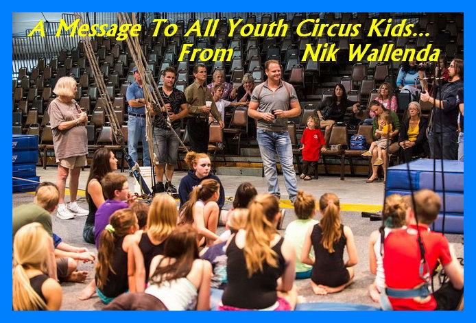 Nik Wallenda at Sailor Circus in Sarasota, Florida